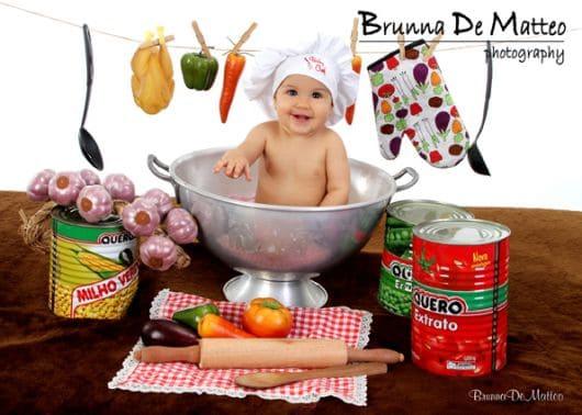 Sugestões divertidas para ensaio de bebê de 9 meses