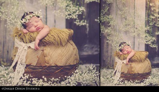 Ideias de fotos para book de bebê feminino