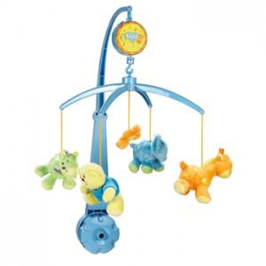 móbile azul de bebê