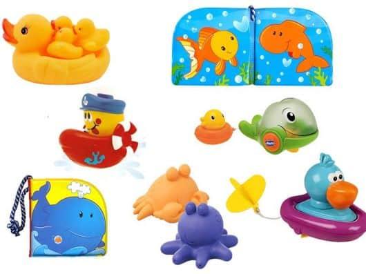 brinquedo para banho de bebê