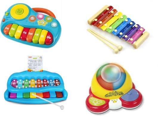 brinquedos sonoros de criança pequena