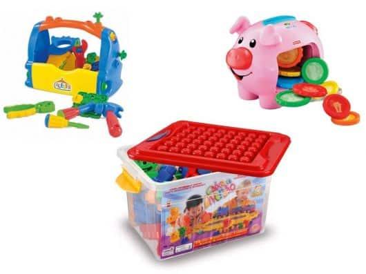 caixinha de brinquedos de bebê