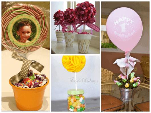 fotos de centros de mesa para festa