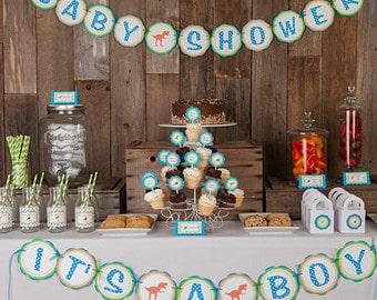 mesa de chá de bebê decorada
