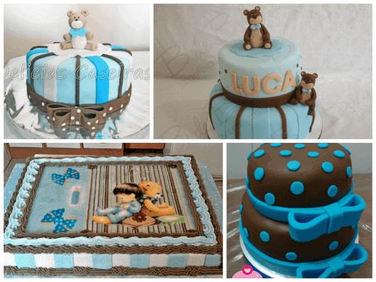 fotos de bolos infantis para chá de fraldas