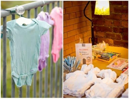 decoração barata e criativa de chá de bebê
