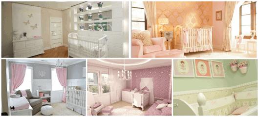 cores de parede quarto bebê feminino