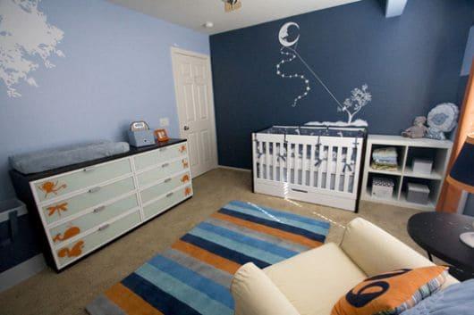 cores para quarto de bebê azul