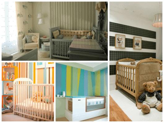 sugestões de cores para quarto de bebê menino