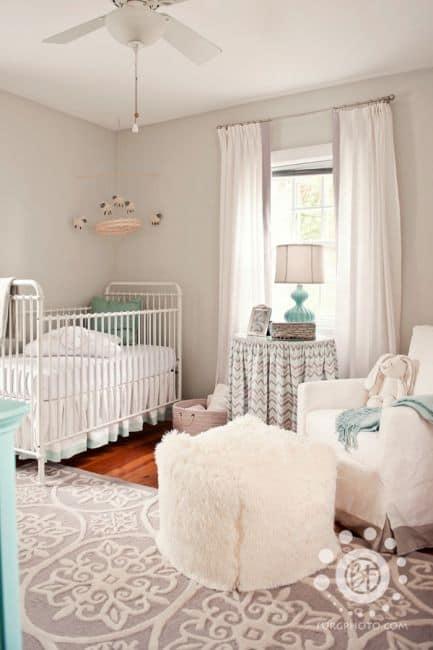cores relaxantes para quarto de bebê