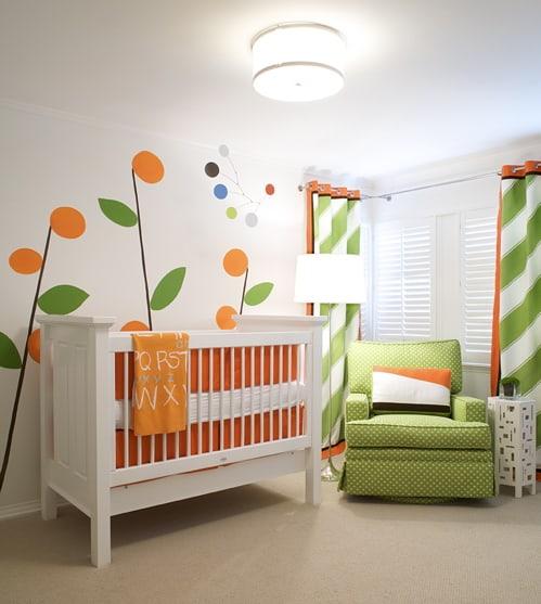 combinação de cores para quarto de bebê