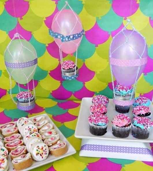enfeites simples para festa de menina