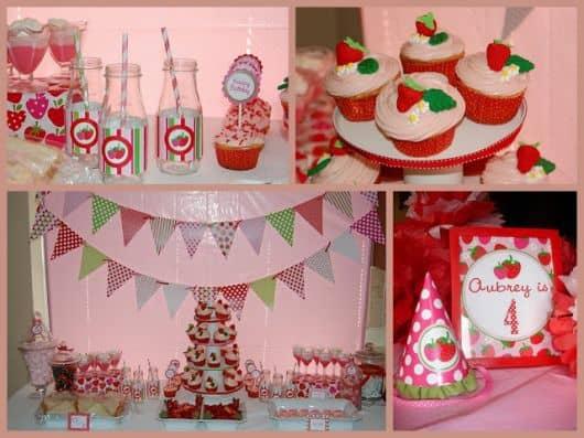 decoração vermelha de aniversário simples