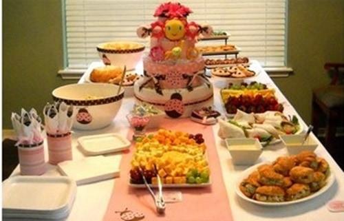 Ideias de decoração de chá de fraldas rosa e marrom