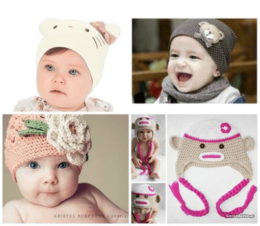toucas femininas de bebê