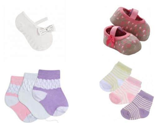 enxoval de meias para bebê menina