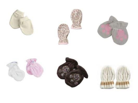 luvas femininas para bebês