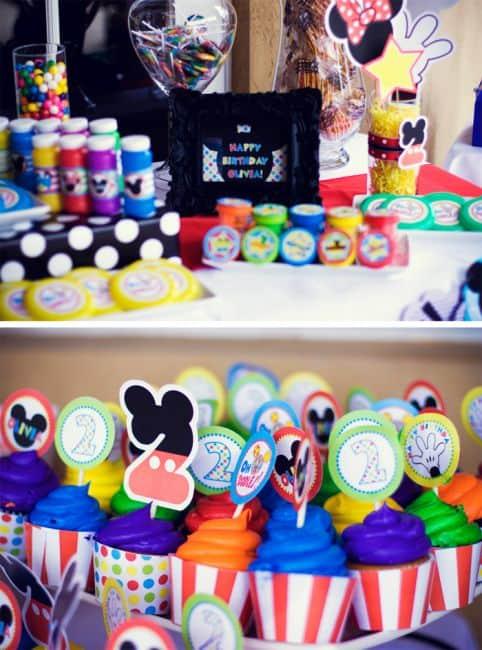 fotos de decoracão do mickey mouse