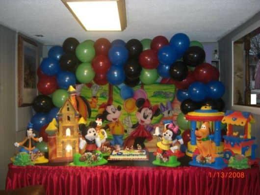 Tema de aniversário festa turma do mickey