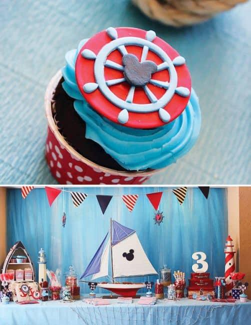aniversário do mickey com azul