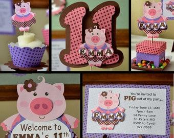 aniversário de menina fazenda porquinha