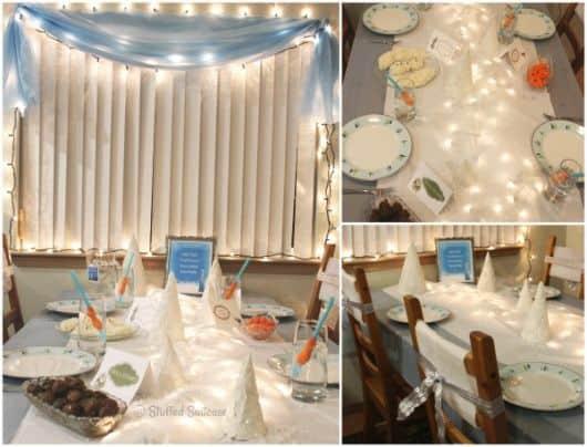 Festa Frozen a noite - ideias de decoração e fotos