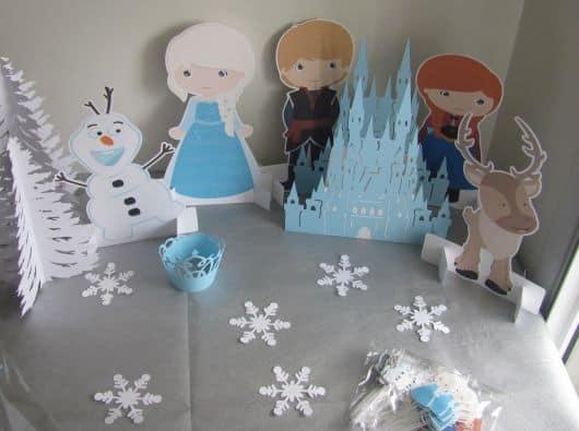 Decoração de Festa Frozen com papel