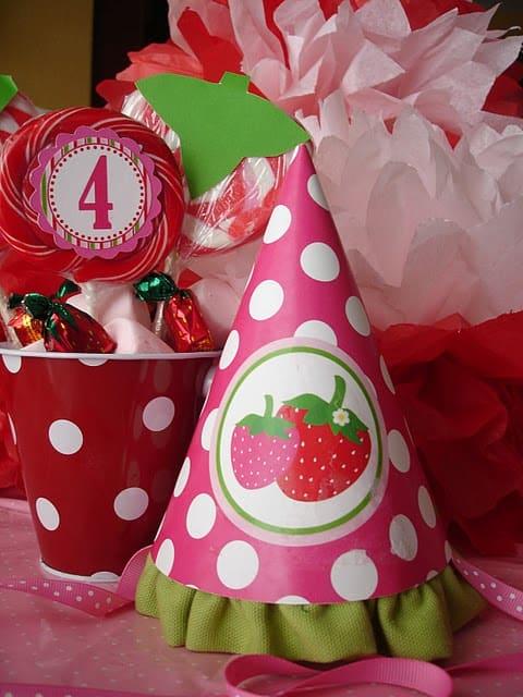 cores do aniversário moranguinha