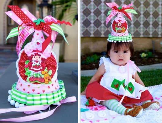 vestido de festa da moranguinha
