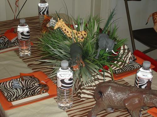 kit festa safari - arranjo de mesa