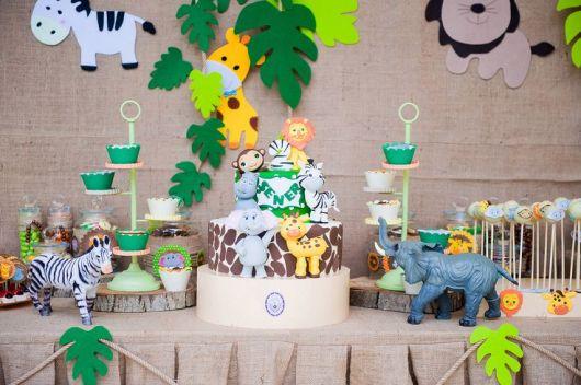 festa safari baby provençal 1 ano