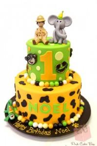 festa safari bolo