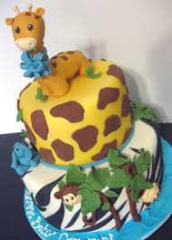 bolo safari decorado para bebês