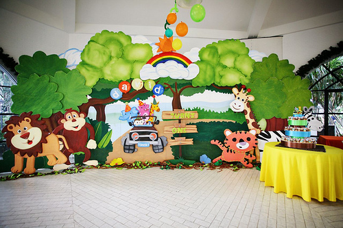 festa safari 1 ano - como decorar