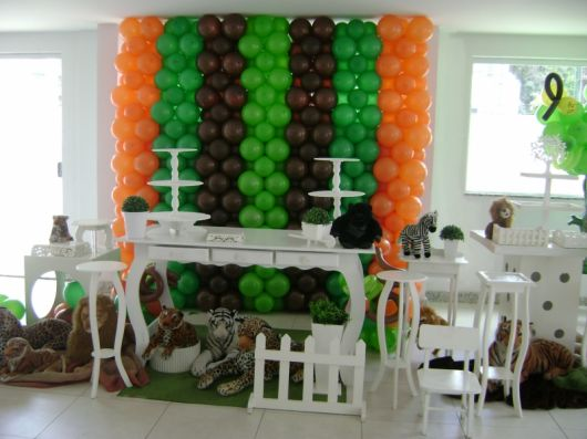 como decorar aniversário com Animais para crianças