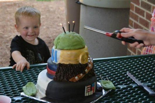 Como fazer bolo para festa star wars