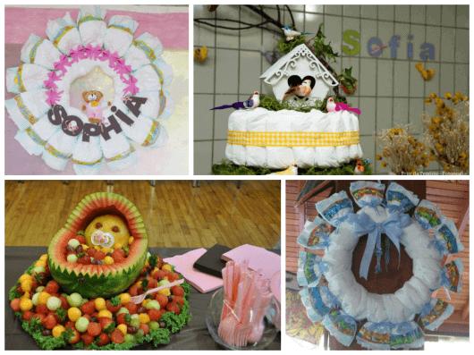 Fotos de ideias diferentes para chá de bebê