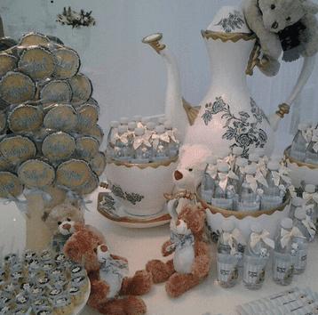 Estilo diferente de decoração de chá de fralda