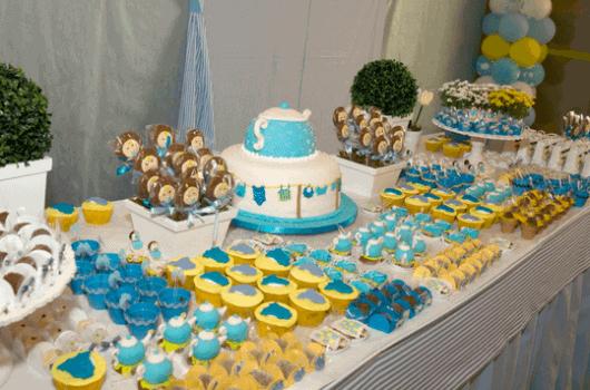 ... cha-de-fraldas-diferente-5.png # decoracao azul e amarelo cha de bebe