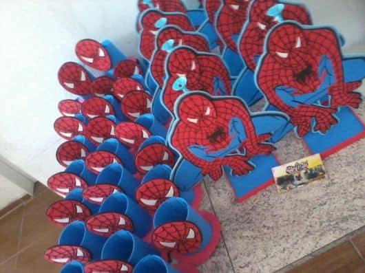 moldes de lembrancinhas do homem aranha em EVA