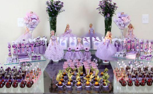 dicas para montar mesa de doces para festa infantil