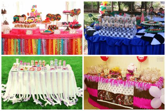 como decorar uma mesa de doce para festa infantil