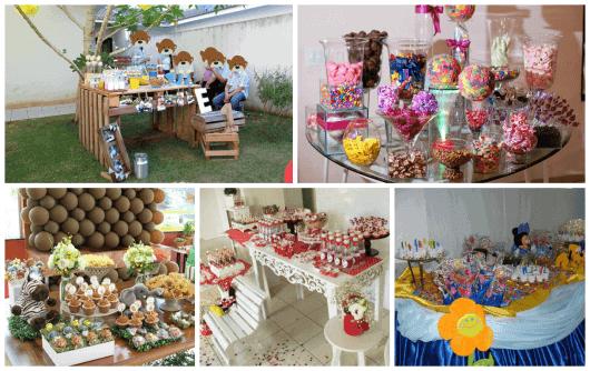 mesa de doces para festa infantil provençal