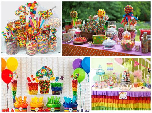 o que vai na mesa de doces para festa infantil
