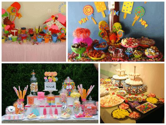 como fazer mesa de doces para festa infantil
