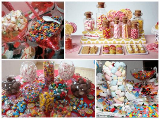o que colocar na mesa dos doces