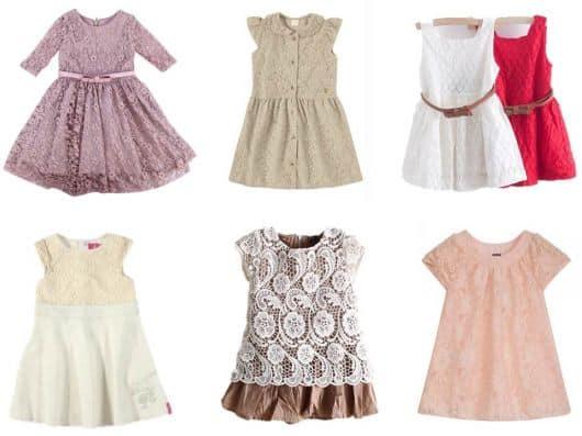 vestidos de renda infantis