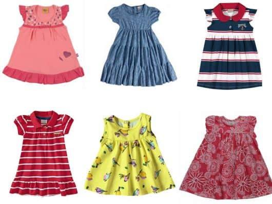 vestidos de malha para criança