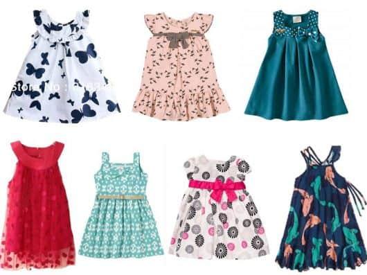 2d32750753 Modelos de Vestidos Infantis para Crianças Pequenas