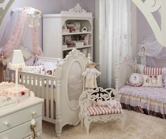 Dicas de decoração para Quarto de Bebê Provençal - menina
